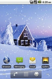 Snowfall Live Wallpaper - screenshot thumbnail