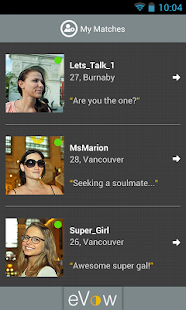 eVow Online Dating - screenshot thumbnail