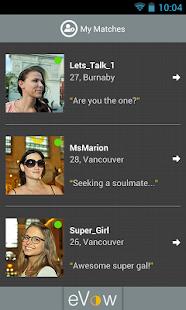 eVow Online Dating - screenshot thumbnail