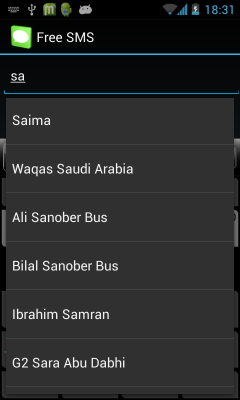 Free SMS to Pakistan Mobiles - screenshot