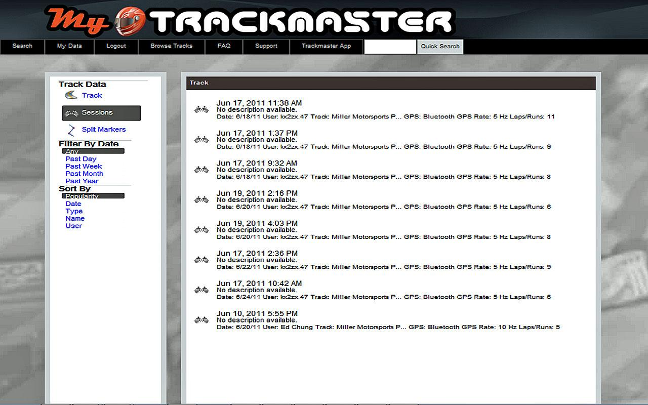 Trackmaster - screenshot