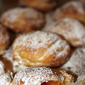 Puff Pastry Filled with Apricot in Syrup