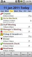 Screenshot of iRT Calendar