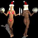 Merry Christmas Girl Wallpaper icon