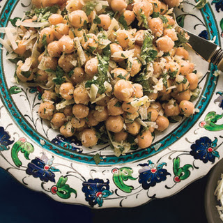 Chickpea Salad with Lemon, Parmesan, and Fresh Herbs.