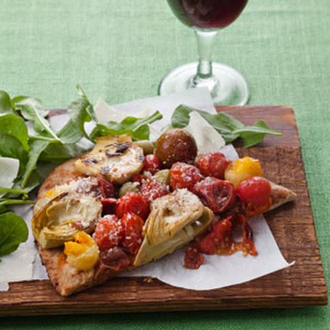 Mushroom Tomato Flatbread Pizza Recipes — Dishmaps