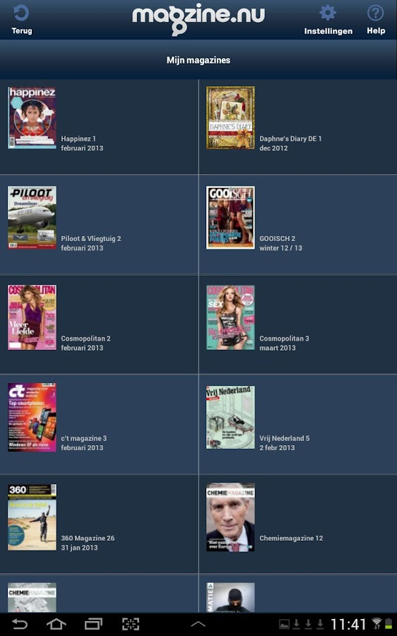 MagZine, De Digitale Kiosk- screenshot
