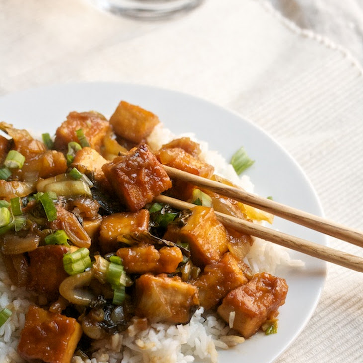 Sweet-and-Sour Tofu with Bok Choy Recipe