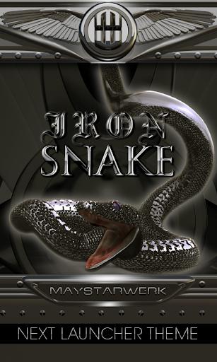 iron snake Next Launcher Theme