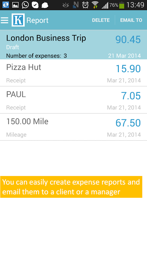Expense Reports and Management - screenshot