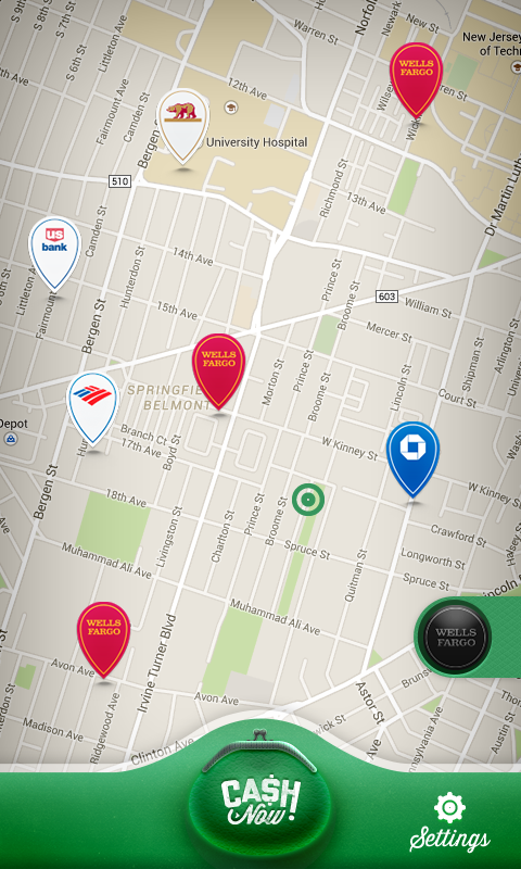 Cash Now - ATM Locator- screenshot