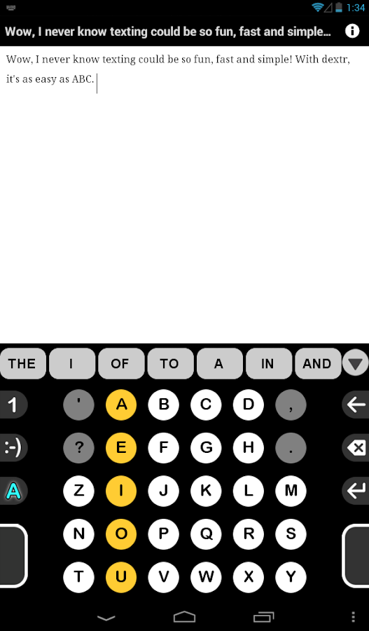 Dextr Alphabetic Keyboard 2.0- screenshot