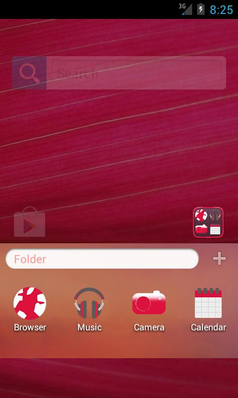 Pink HD GO Launcher EX Theme - screenshot