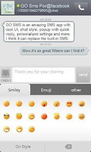 GO SMS Pro FBChat plug-in - screenshot thumbnail