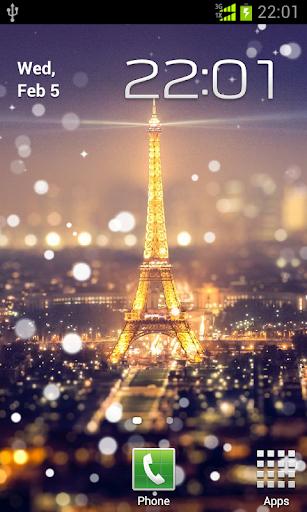 巴黎星光之夜動態桌布