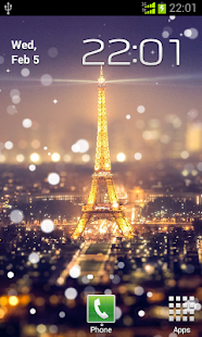Paris Night Light LWP - screenshot thumbnail
