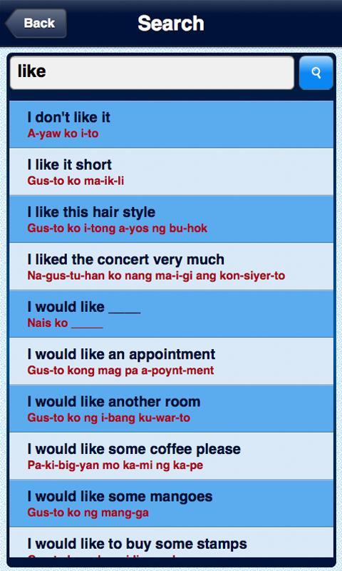 Speak Tagalog/Filipino- screenshot