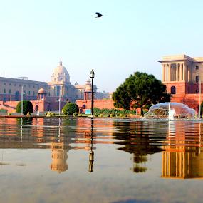 President house India by Vaibhav Nahar - City,  Street & Park  Fountains