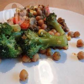 Gehaktschotel Met Kikkererwten En Broccoli