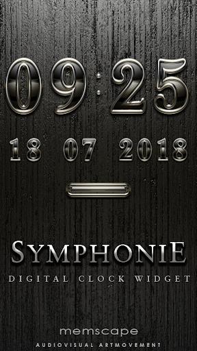 SYMPHONIE Digital Clock Widget