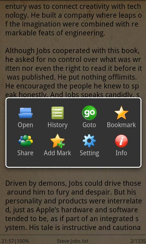 EzReader - screenshot