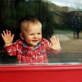 Auntie is home by Debbie Sodeman-Roelle - Babies & Children Children Candids ( washington, wenatchee, reflections, candid, baby, smile, canon t4i )