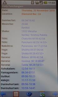Daily Panchangam- screenshot thumbnail
