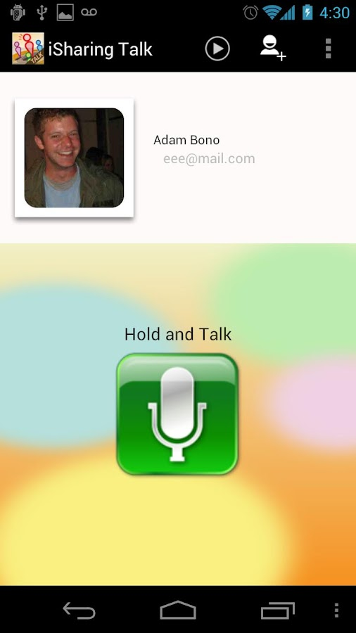 iSharing Talk - Walkie Talkie - screenshot