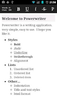 Power writer - screenshot thumbnail