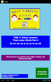 Three Letter Words Part 4 Free- screenshot thumbnail