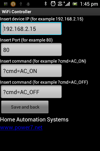 WiFi Remote Control - screenshot