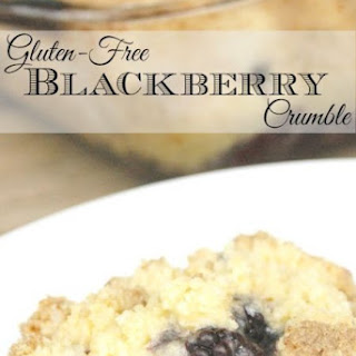 Gluten-Free Blackberry Crumble.