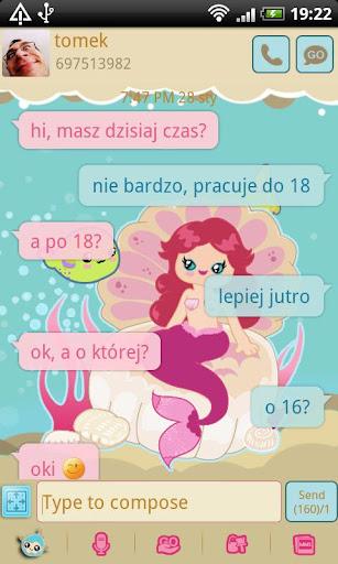 GO SMS Pro Sweet Mermaid Theme