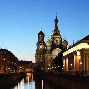by Kseniya Maksimenko - Buildings & Architecture Statues & Monuments ( night, city )