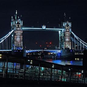 Tower Bridge By Night by John Bonanno - Buildings & Architecture Bridges & Suspended Structures ( bridge )