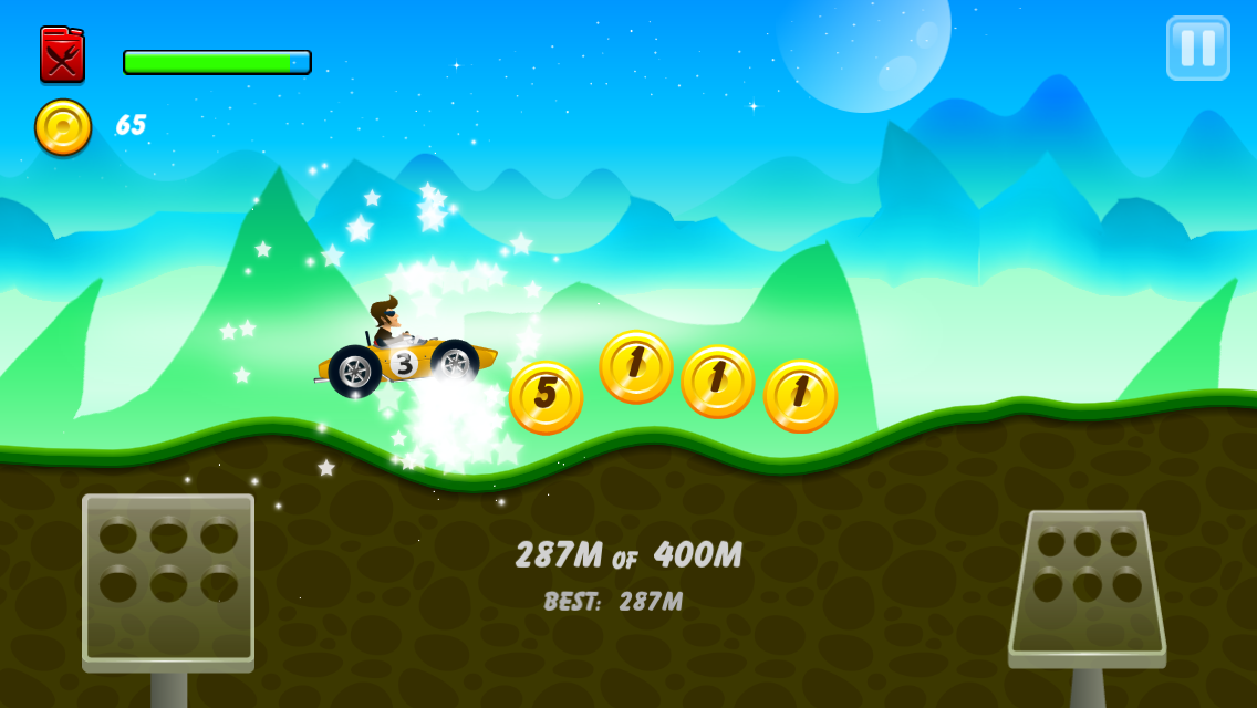Screenshots of Hill Racing: mountain climb for iPhone