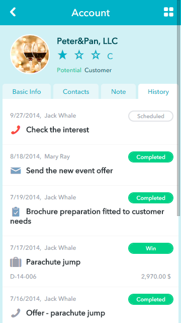 RAYNET CRM- screenshot