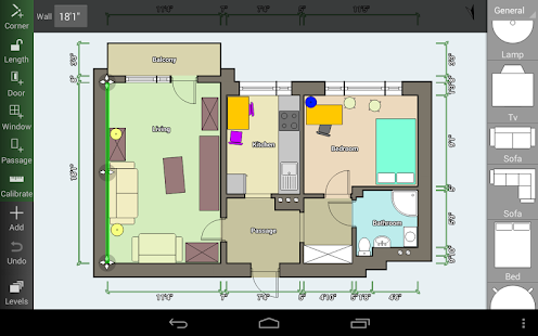 Floor plan creator android apps on google play Room floor plan generator