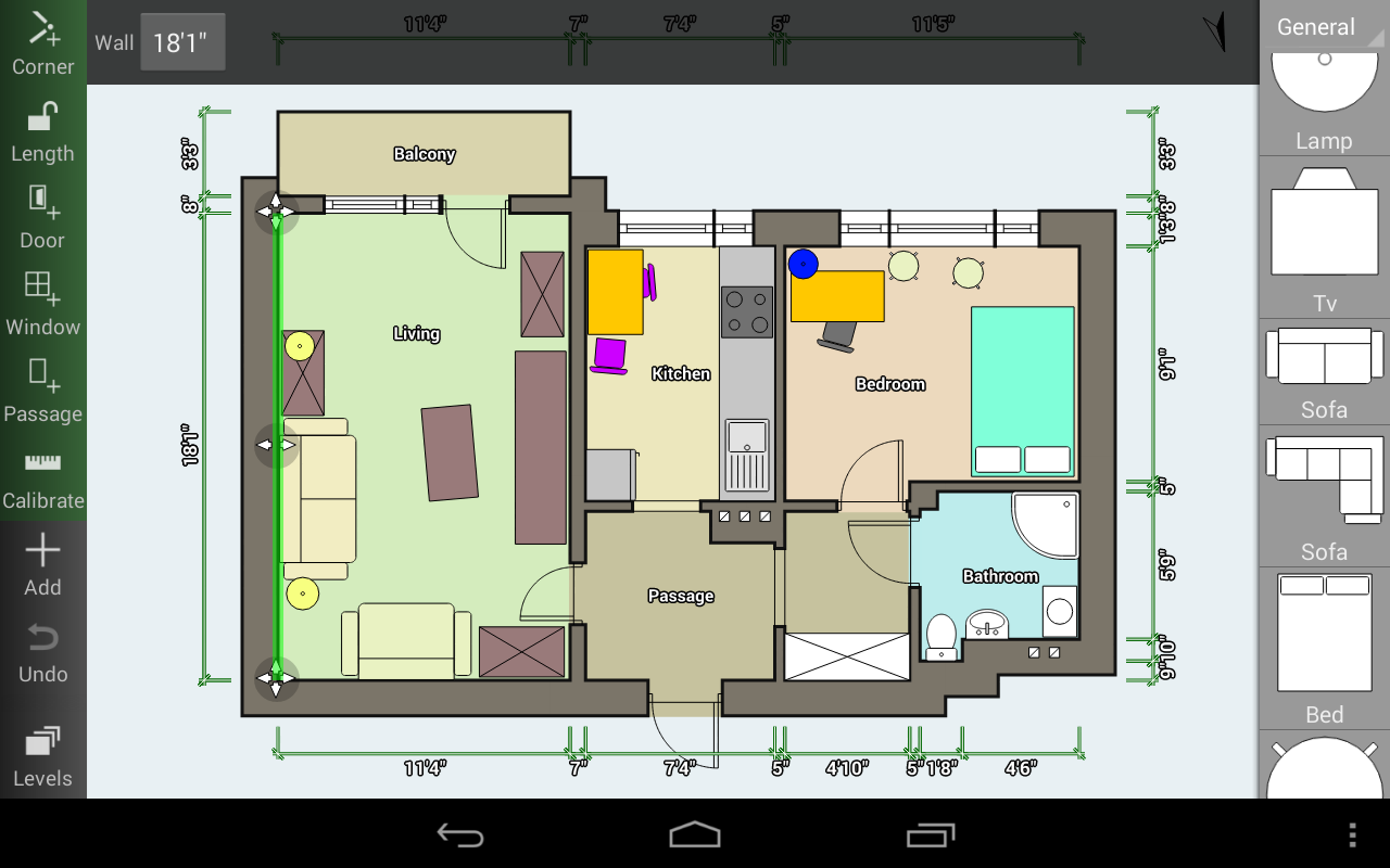 Floor plan creator android apps on google play Room dimensions app