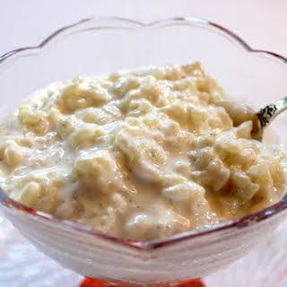 Creamy Vanilla Rice Pudding.