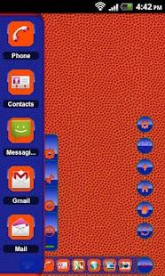 TSF Shell Theme Orange Blue HD - screenshot thumbnail