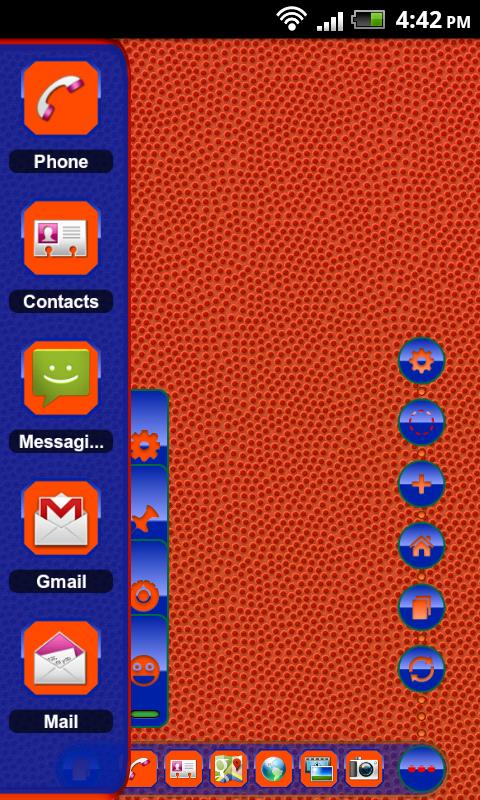 TSF Shell Theme Orange Blue HD - screenshot