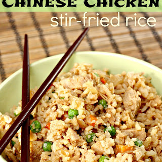 Chinese Chicken Stir-Fried Rice.