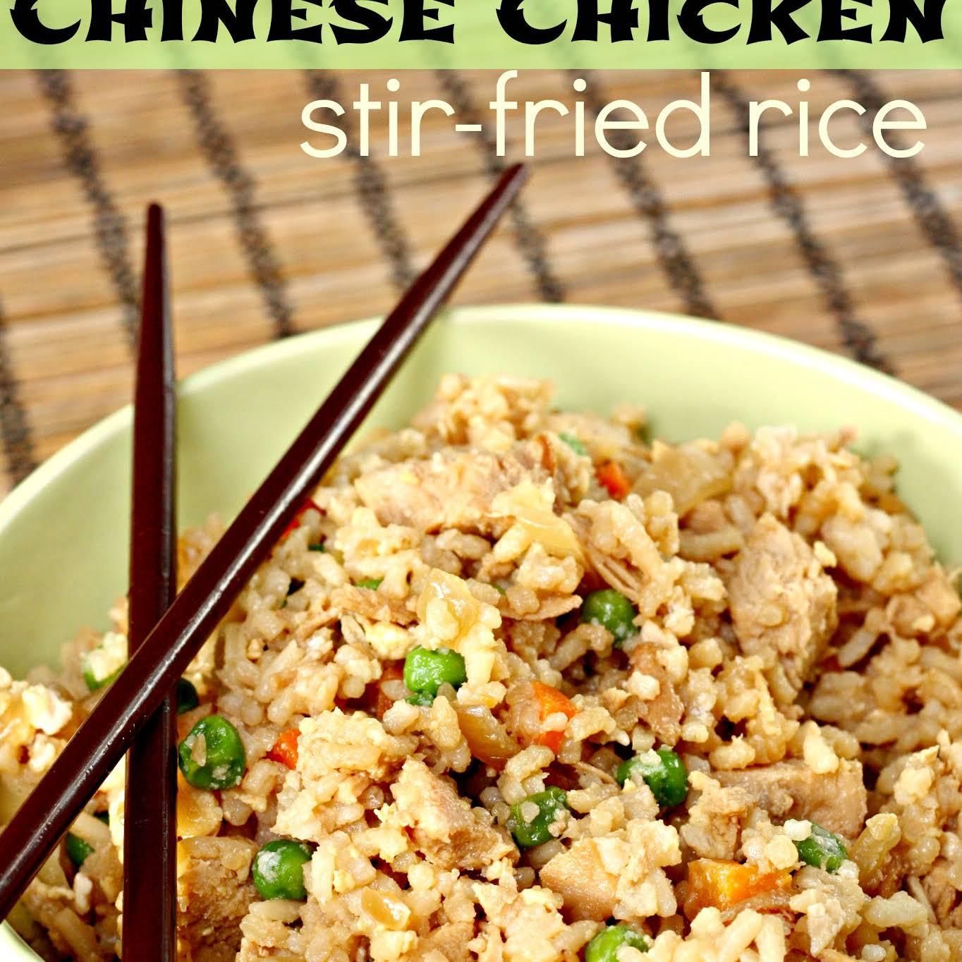 Chinese Chicken Stir-Fried Rice