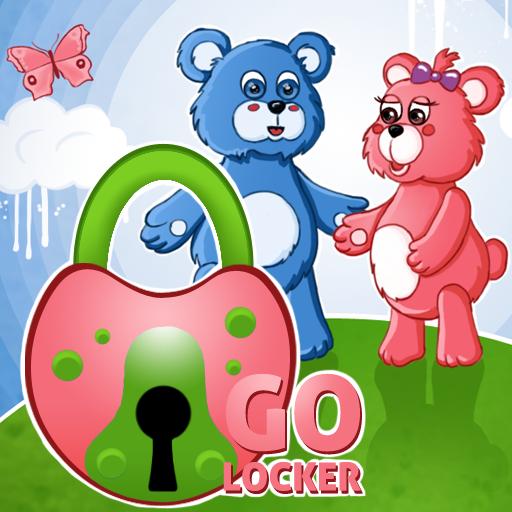 个人化のロッカーテーマテディベアGO LOGO-HotApp4Game