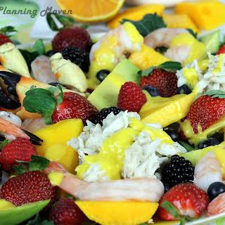 Florida Seafood Salad with Mango-Tangerine Dressing.