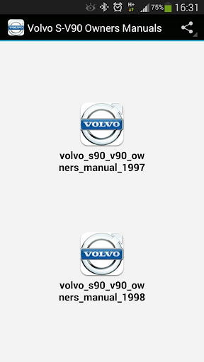 Volvo S-V90 Owners Manuals