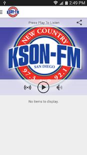 KSON-FM San Diego Country- screenshot thumbnail