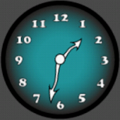 Analog Clock Blue
