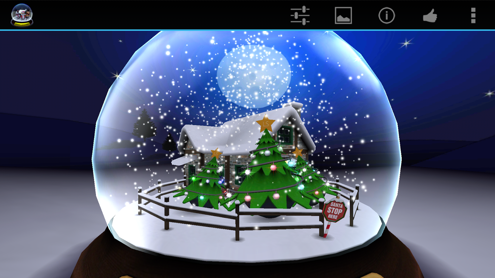 Advent Calendar Live Wallpaper : D christmas advent snow globe android apps on google play